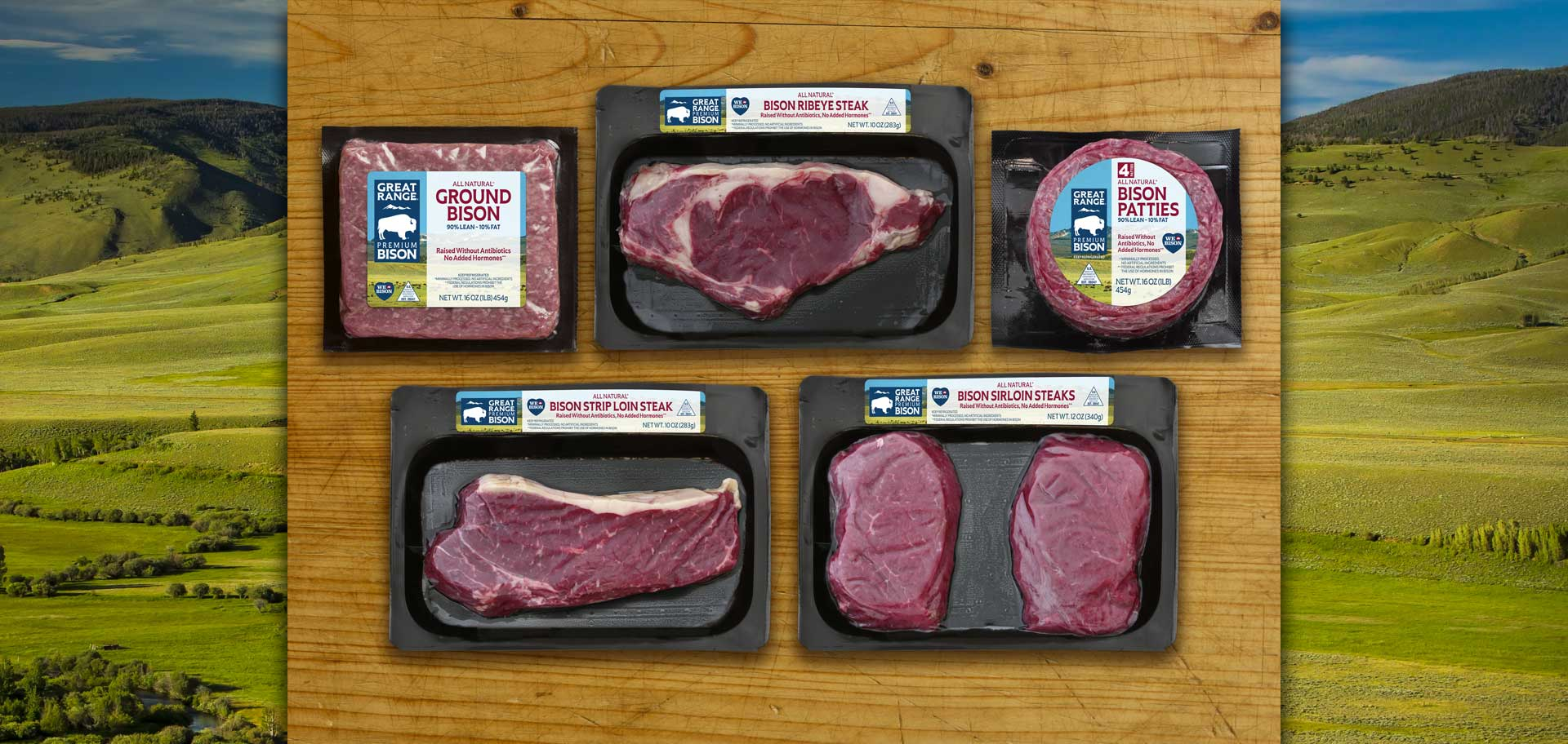 Packaged Fresh Bison Products